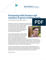Partnering with farmers and ranchers to green working lands