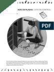 Checklist Plagas