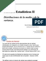 Distribuciones de La Media y de La Varianza