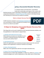15 Steps for Designing a Disaster Recovery Plan (DRP)