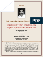Invitation - Sixth International Arvind Memorial Seminar