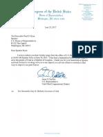 Jason Chaffetz pens resigntion letter to House Speaker Paul Ryan