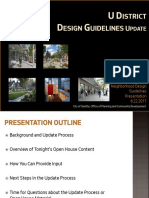 June Open House - Design Guidelines PowerPoint - U District