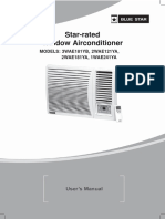3 Star Window Airconditioners User Manual - Bluestar