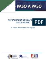 Guia Actualización Obligatoria de Datos Del RUC
