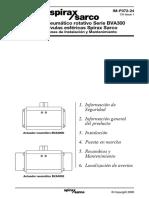 Actuador Neumático Rotativo BVA300-Instrucciones de Instalación y Mantenimiento