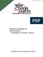 [Cliqueapostilas.com.Br] Apostila de Design de Sobrancelhas Histologia Formatos Henna