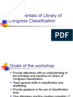 Fundamentals of Library of Congress Classification