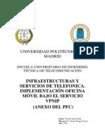 Infraestructuras y Servicios de Telefonica. Implementación Oficina Móvil Bajo El Servicio Vpnip (Anexo Del Pfc)