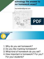 Homework and Technology by Shaun Wilden