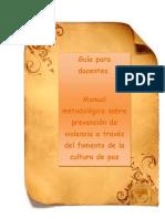 Manual-para-docentes Cultura de Paz
