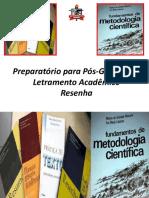 LetramentoAcadêmico-Resenha