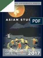 Asian Studies 2017 Catalog