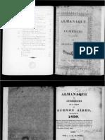 Blondel, J. J. M.  Almanaque de comercio de la ciudad de Buenos Aires para el año de 1830. Buenos Aires, Imprenta Argentina, 1830.