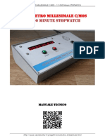 Cronometro Millesimale Stopwatch Manual