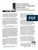 Crispin Beltran, Towards defeating America's global aggression and terrorism