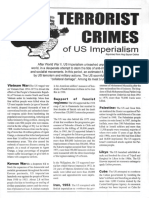 Terrorist Crimes of US Imperialism