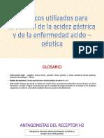 frmacosutilizadosparaelcontroldelaacidezgstricaydelaenfermedadcidopptica-140901234240-phpapp02