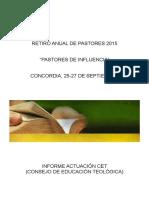 Carpeta CET Retiro Pastoral 2015