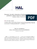 Dynamic Viscosity Estimation of Hydrogen Sulfide Using a Predictive Scheme Based on Molecular Dynamics