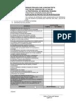 Matriz de Calificacion de Proyectos 2016