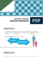 Bloqueo Epidural Aspectos Fisiologicos