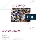 Jwt 100things to Watch in 2010