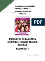 Formatos de Los Productos de La 4 Sesion Cte 2017