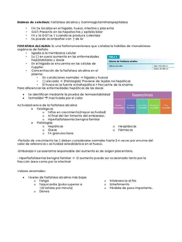 fosfatasa alcalina valores normales en adultos