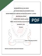 Reforma Educativa de El Salvador