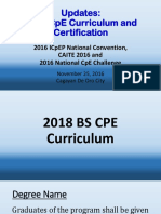 2018 CpE Curriculum and Certification Updates