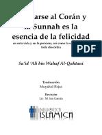 Aferrarse Al Corán y Sunnah