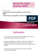 Resonancia de Espin Electronico(RSE)