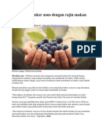 Bunuh Sel Kanker Usus Dengan Rajin Makan Anggur