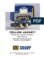 YELLOW JACKET Refrigeration System Analyzer User Manual