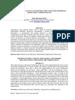 O PAPEL DA EDUCAÇÃO NA SOCIEDADE E ORGANIZAÇÕES MODERNAS