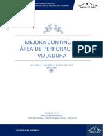 Mejora Contínua PERFORACIÓN Y VOLADURA - VOLCAN COMPAÑIA MINERA