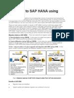Migration to SAP HANA Using SAP DMO