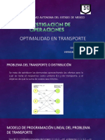 Optimalidad en Transporte 1