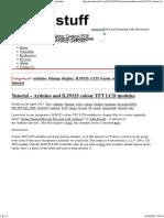 Tutorial - Arduino and ILI9325 Colour TFT LCD Modules