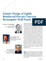 Seismic Design of Lightly Reinforced Precast Concrete Rectangular Wall Panel 2002