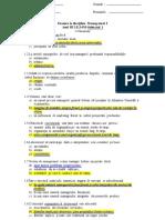 Subiect Grila Management I