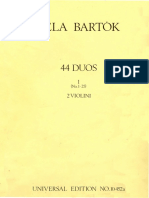 Bartok Violin Duets Part I II