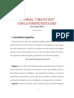 Tutorial Festa Dies Cibavit