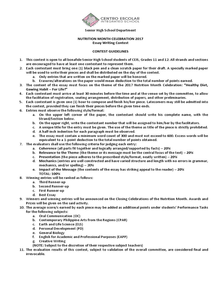 essay writing guidelines essays cognition