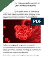 Causas de los coágulos de sangre en la menstruación y cómo evitarlos