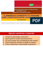 Aprendizaje Cooperativo Pere Pujolas