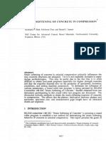 Strain Softening of Concrete in Compression