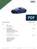 konfiguracja RS5 coupe