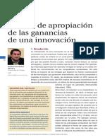 Formas de Apropiación de Las Ganancias de Una Innovación